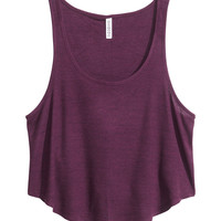 H&M - Ribbed Tank Top - Dark
