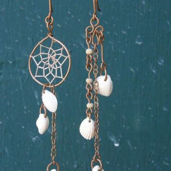 Swept to Sea earrings by TheSeaWench on Etsy