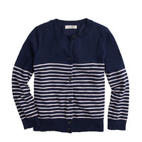 GIRLS' STRIPE CARDIGAN