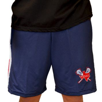 Texas Side Stars Lax Shorts | Lacrosse Unlimited
