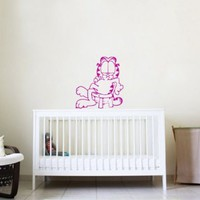 Wall Vinyl Decal Cartoon Cat Nursery Room Art Decor Removable Stylish Sticker Mural Unique Design for Any Room 225