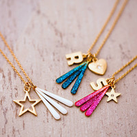 Design Your Own Glitter Charm Necklace