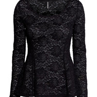 H&M - Peplum Top in Lace -