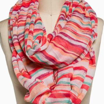 BRIGHT STRIPES ETERNITY SCARF