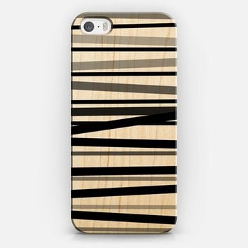Monochrome Stripes iPhone 5s case by Lisa Argyropoulos | Casetify
