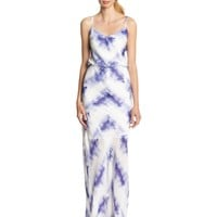 Vince Camuto Women's Sleeveless Blouson Printed Maxi Dress