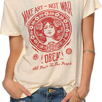 Obey Make Art Not War 2 Back Alley Tee