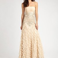 Sue Wong - Beaded Chiffon Gown - Saks.com