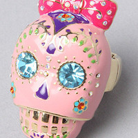 The Viva La Betsey Skull Stretch Ring by Betsey Johnson | Karmaloop.com - Global Concrete Culture