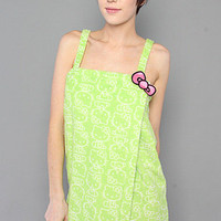 The Retro Chic Plush Shower Wrap in Lime by Hello Kitty Intimates | Karmaloop.com - Global Concrete Culture