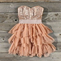 Ruffles & Rust Party Dress, Sweet Women's Country Clothing