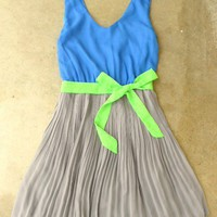 Clearwater Colorblock Dress in Royal [2604] - &amp;#36;42.00 : Vintage Inspired Clothing &amp; Affordable Summer Dresses, deloom | Modern. Vintage. Crafted.