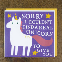 Unicorn Card