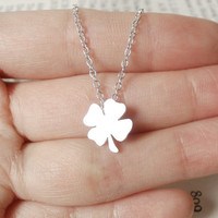 Lucky Shamrock In Sterling Silver, Handmade In The UK | Luulla