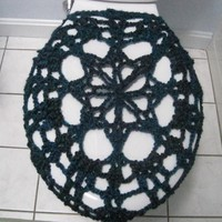 Crochet Toilet Seat Cover, Toilet Seat Cozy - Tweed Teal/purple (TSC2) | Luulla