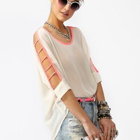 Pop Cutout Top in  Clothes Tops Shirts + Blouses at Nasty Gal