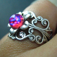 dragon&#x27;s breath Vintage iridescent opal glass filigree