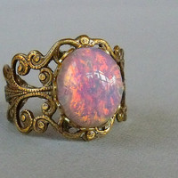 Ring Opal Ring Pink 
