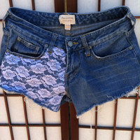 Lace It Up Denim Shorts