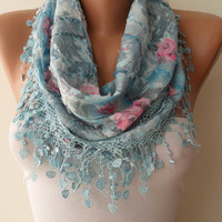 Light Blue Scarf  by SwedishShop on Etsy