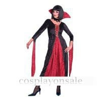 Euro-American Costumes Vampiress costume velvet deluxe dress cosplay costume for sale [TWL111015001] - $81.00