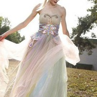 Butterfly Fairy Big Train Evening Gown E210 [EVEND423119] - $290.99 :