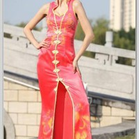 Column Sheath high-neck Floor Length Satin Evening Dress(ED2870) [ED2870] - $116.30 :