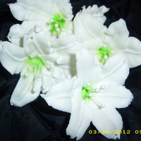 From The Royal Icing Garden Easter lily 6 by confectionerygarden