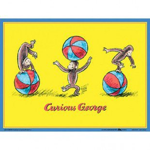 Art 4 kids curious george wall art from for Curious george wall mural