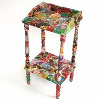 2-tiered side table by viva fabric | notonthehighstreet.com