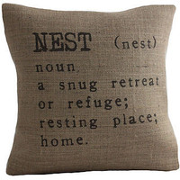 'nest' cushion cover by betsy jarvis | notonthehighstreet.com