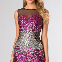 Short Sleeveless Jeweled Dress