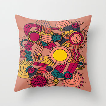 The Earthly Environment Throw Pillow by DuckyB (Brandi)