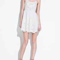 EMBROIDERED DRESS - TRF - New this week - ZARA United States