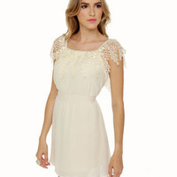Cute Cream Dress - Lace Dress - White Dress - $44.50