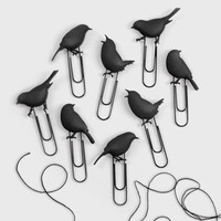 FredFlare.com - Fred & Friends Birds on a Wire Photo Clips - Bird Paper Clip Clothesline