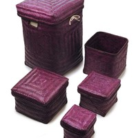 Purple bamboo laundry range - Bathroom Accessories - House of Fraser