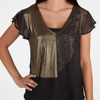 BKE Boutique Pieced V-Neck Top