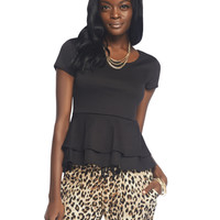 Short Sleeve Peplum Top | Wet Seal