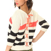 The Striped Tie Back Sweater