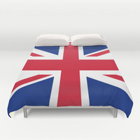 UK FLAG - The Union Jack Authentic color and 1:2 scale  Duvet Cover by LonestarDesigns2020 - Flags Designs +