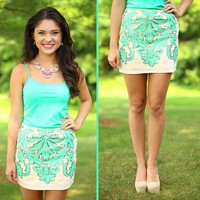 As Ornate As You Skirt in Mint