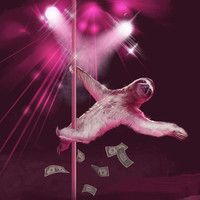 Stripper Sloth, Sloth, Womens Scoop, T-Shirt, Available S M L XL 2XL