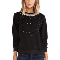 Pop Melange Sweatshirt in Ivory & Black