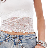 Cropped Lace Trim Cami