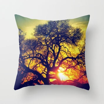 Through the trees Throw Pillow by DuckyB (Brandi)