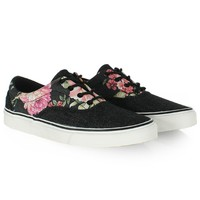 Baskets Wrung Two Tones Floral Denim - LaBoutiqueOfficielle.com