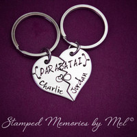 Parabatai - Personalized Best Friend, Couple Key Chain Set - The Mortal Instruments - TMI - Jace, Alec, Will, Jem - Partners Keychains