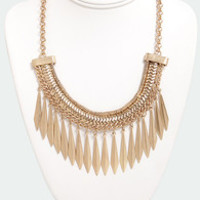 In the Spear Future Gold Statement Necklace