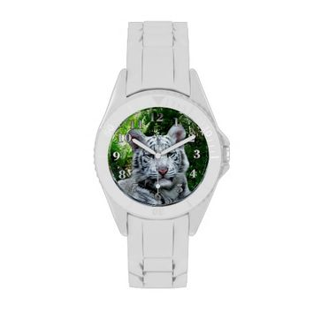 White Tiger Sporty Watch